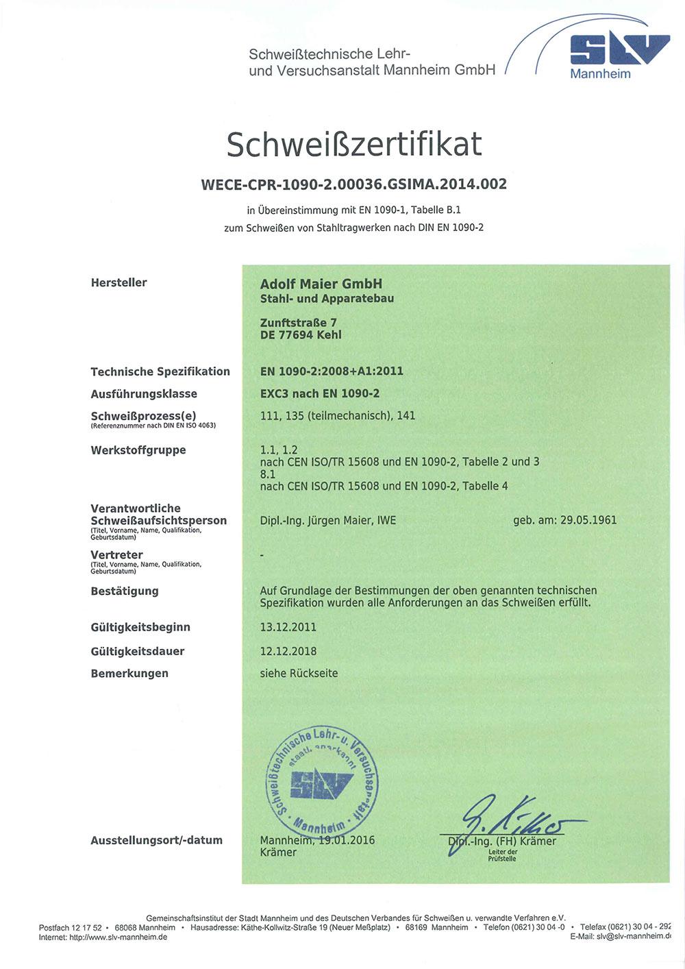 Schweisszertifikat_1090_A_Maier_GmbH_bis_12_2018_D