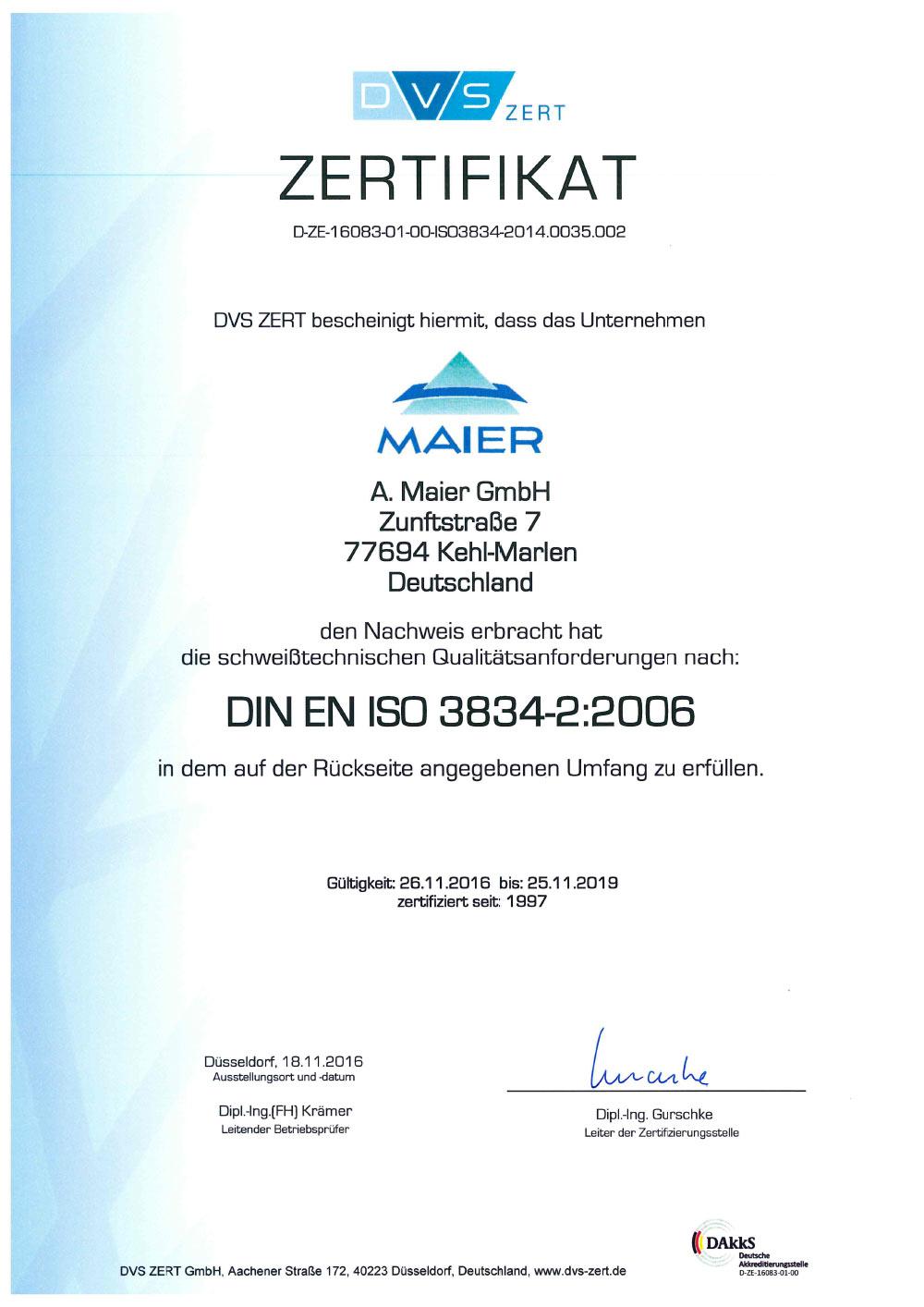 Zertifikat_3834__A_Maier_GmbH_bis_11_2019-1_Seite1