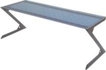 Tisch Stahl/Glas  Länge: 2000 mm  Tiefe: 800 mm  Sicherheitsglas