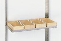 Ablage mit 4 x Container 5