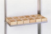 Ablage mit 12 x Container 1